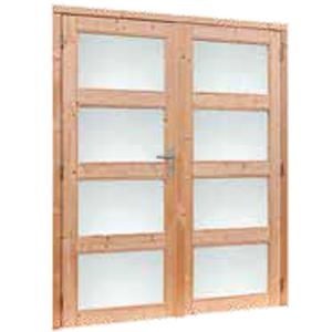 Douglas dubbele deur 4-ruits melkglas