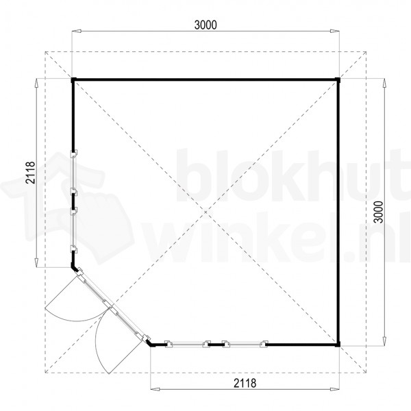 Plattegrond Lugarde tuinhuis Fifth Avenue 300x300 V6
