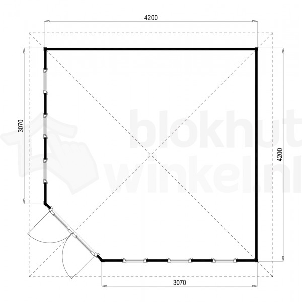 Plattegrond Lugarde tuinhuis Fifth Avenue 420x420 V12
