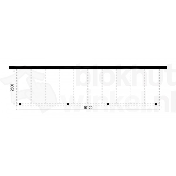 Plattegrond Overkapping Outback Panorama 1012x260