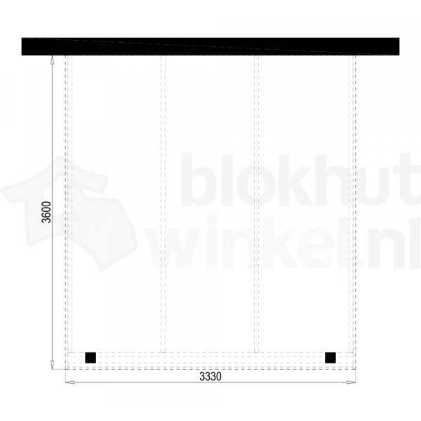 Plattegrond Overkapping Outback Panorama 333x360