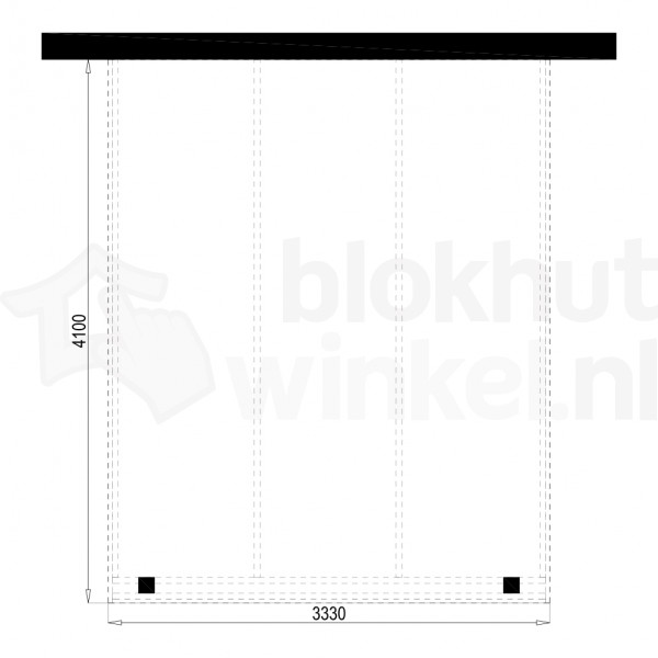 Plattegrond Overkapping Outback Panorama 333x410
