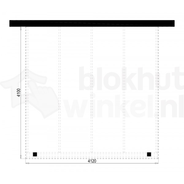 Plattegrond Overkapping Outback Panorama 412x410