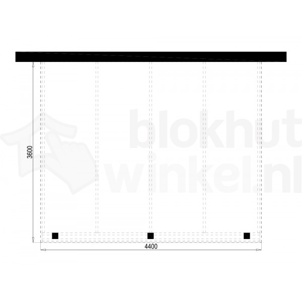 Plattegrond Overkapping Outback Panorama 440x360