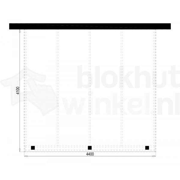 Plattegrond Overkapping Outback Panorama 440x410