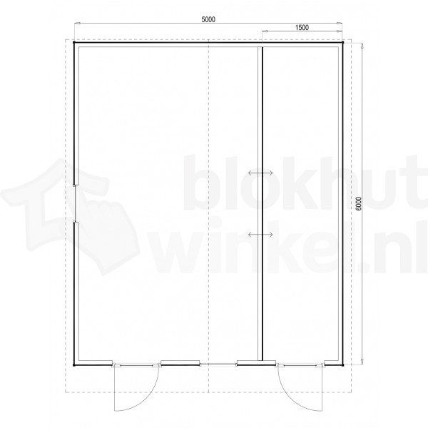 Plattegrond Woodford houtskeletbouw tuinhuis Cardiff 500x600