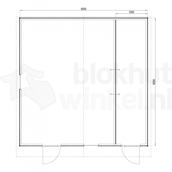 Plattegrond Woodford houtskeletbouw tuinhuis Cardiff 600x600