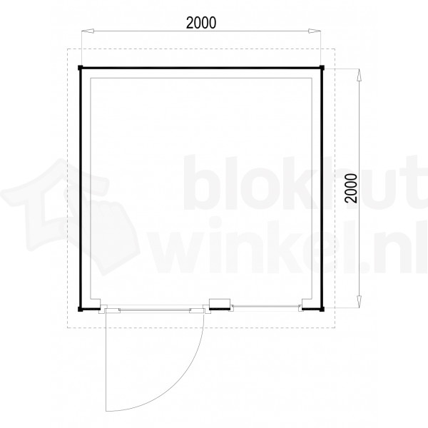 Plattegrond Woodford houtskeletbouw tuinhuis Columbus 200x200