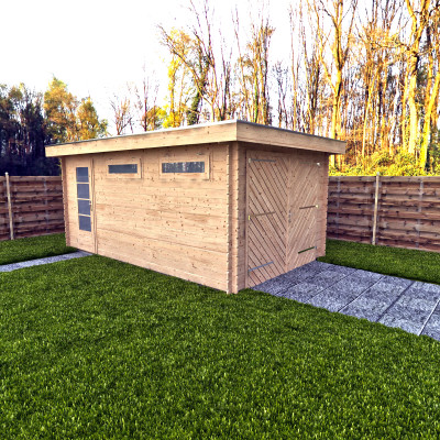 Houten Garage Lincoln 350x500