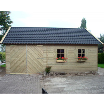 Woodford houtskeletbouw garage Berkeley 550x500