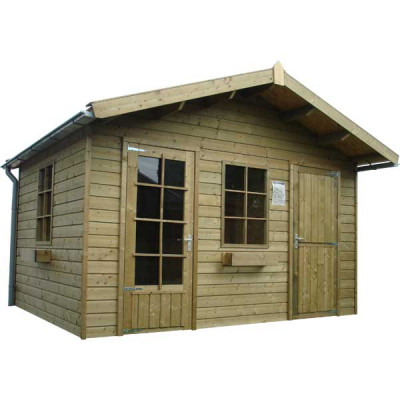 Woodford houtskeletbouw tuinhuis Cardiff 500x550