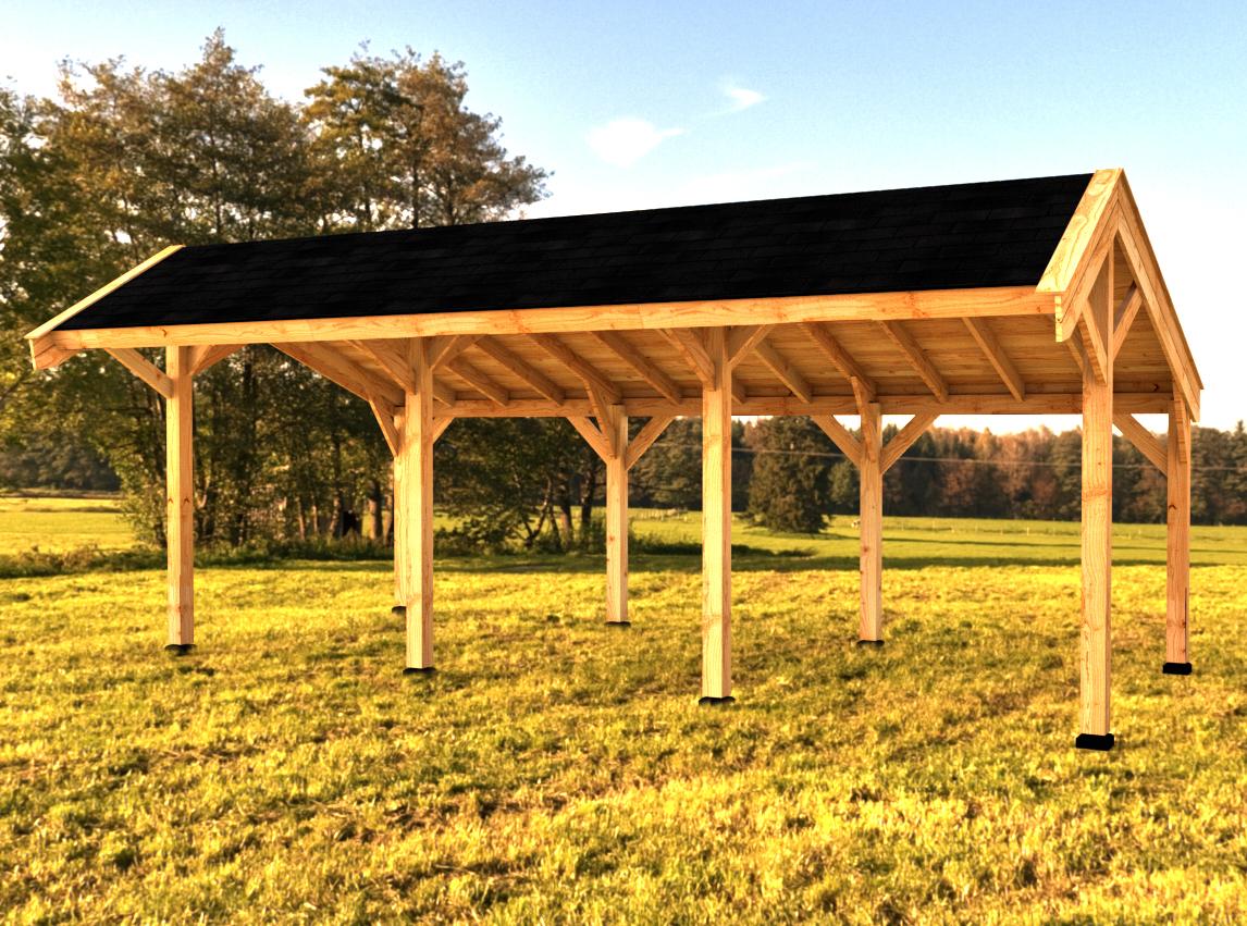 Afbeelding van Woodvision Kapschuur Modulair Waterland 1050x230 (3 vakken)