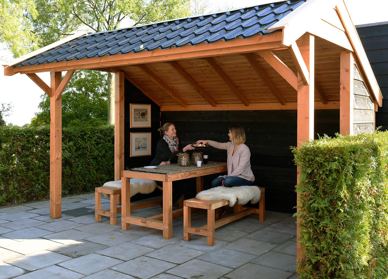 Afbeelding van Woodvision Kapschuur Comfort 400x250 + Wanden OP=OP!