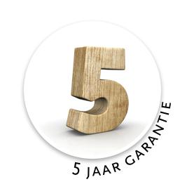 Lugarde garantie van 5 jaar