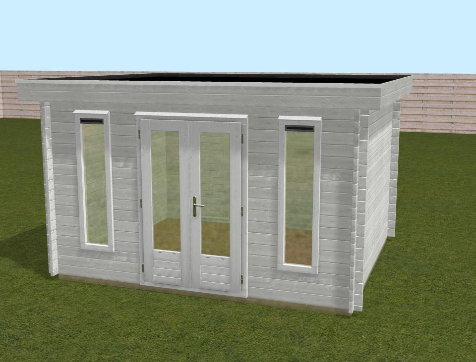 Voorbeeld lugarde 3D model blokhut