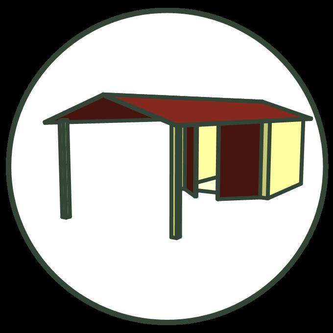 garage met veranda