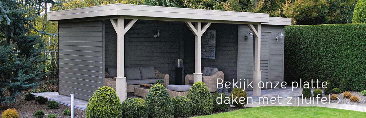 bekijk ons aanbod platte daken met zijluifel en achterwand
