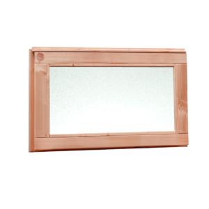 Woodvision douglas vast raam met melkglas